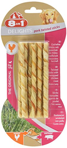 8 in 1 Delights Twist Chicken Sticks, 10-Piece
