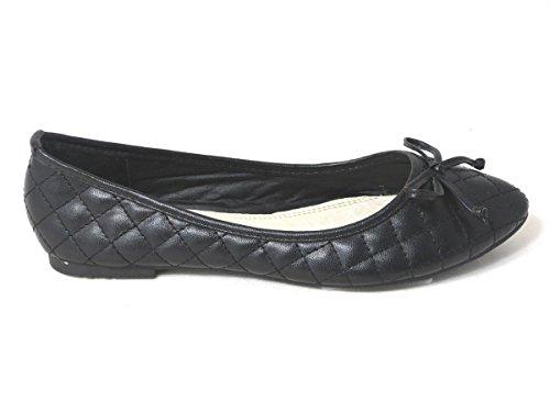 SKO'S , Chaussures plates fille femme Black (101-1)