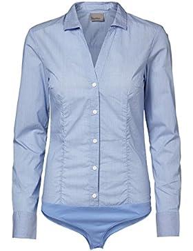 Vero Moda Damen String Shirt VMLADY L/S G-STRING SHIRT NOOS, Größe:XS;Farbe:Grapemist (10145522)