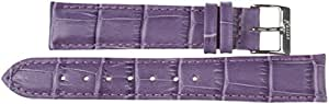 14mm Imperial Watch Leather Band Wrist Watch Purple Leather Watch Strap 14mm Buckle: White
