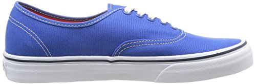 Vans U Authentic - Baskets Mode Mixte Adulte Bleu (Strong Blue/Nasturtium)