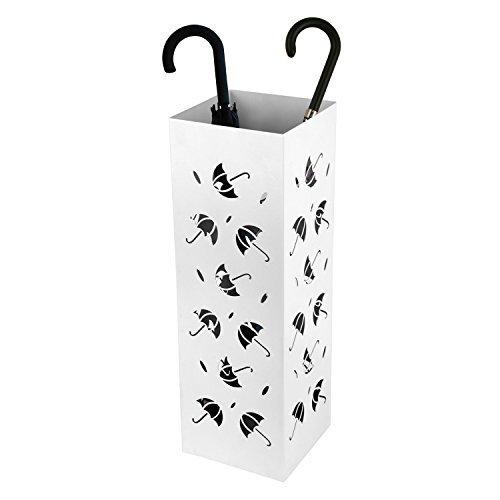 Amzdeal portaombrelli porta ombrelli bianco in ferro con for Amazon portaombrelli