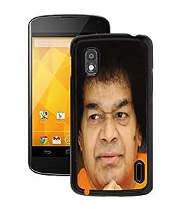 Fuson 2D Printed Lord Sathya Sai Baba Designer Back Case Cover for LG Google Nexus 4 - D689