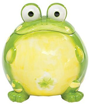 Toby The Toad Frog Cookie Jar Canister For Kitchen Decor And Food Storage by Burton & Burton Cookie Jar Cannister
