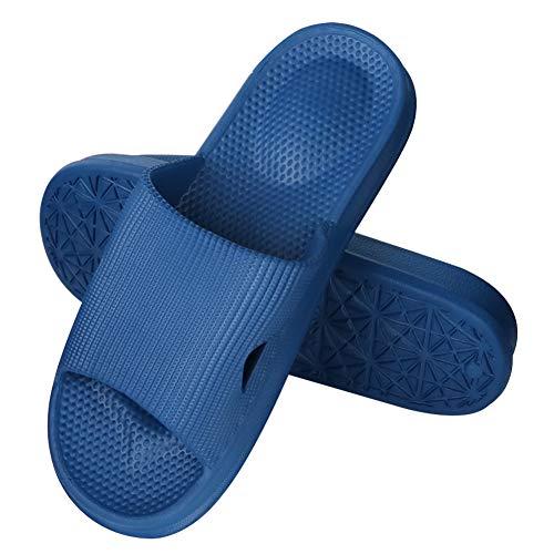 G-TASTE Zapatillas de Estilo japonés para el hogar Ducha Zapatillas Antideslizantes Hombres y Mujeres Sandalias de Verano Zapatillas cómodas para Parejas (41/42 EU, Azul Marino)