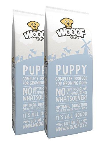 Jetzt neu: Wooof Puppy 30kg kaltgepresstes Hundefutter mit Rind, natürliche Zutaten, hoher Fleischanteil, leicht verdaulich, ohne Weizengluten, Trockenfutter für Welpen und junge Hunde