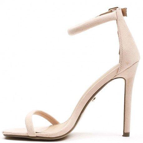 Ideal Shoes - Sandales à brides effet daim Helina Rose