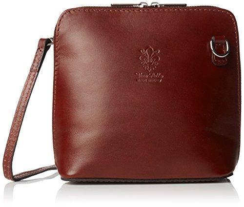 Girly Handbags, Borsa a tracolla donna Dark Tan