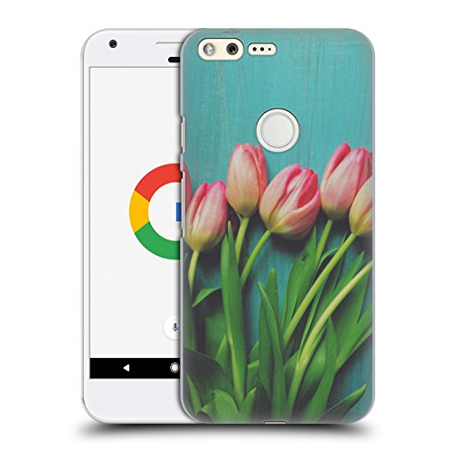 official-olivia-joy-stclaire-pink-tulips-on-the-table-hard-back-case-for-google-pixel