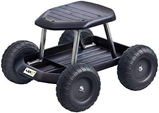 UPP Gartenwagen schwarz bis 130 Kg belastbar - knieschonend - Sitzhöhe bei 33cm - Rollsitz Gartenhelfer für rückenschonendes Arbeiten - Rollwagen mit breiten, leichtgängigen Rädern sichern die Stabilität - Werkstattwagen/ Sitzroller/ Roller