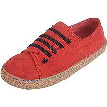 Darringls Zapatos de Invierno Mujer,Zapatillas con Cordones Gamuza Botines Fondo Plano Zapatos Cortos