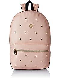 HOOM Synthetic Pink School Backpack (HMSOSB 009-HM(Pink))