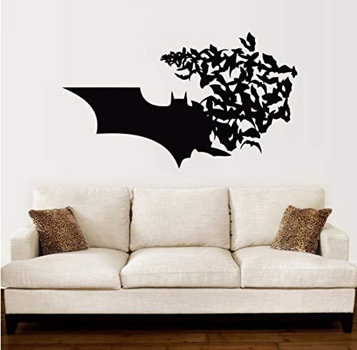 Batman Logo Wandtattoo Bat Comics Superhelden Wandaufkleber Ausgangsdekor Jungen Zimmer Batman Wandbild Vinyl Design Tapete 57x33 cm