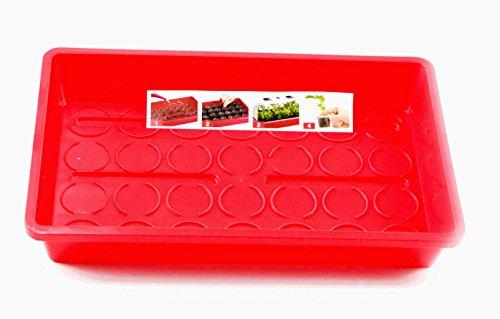 Jiffy Zimmergewächshaus rot mit 24 Torf Quelltöpfen, Grow Set, Anzuchtset