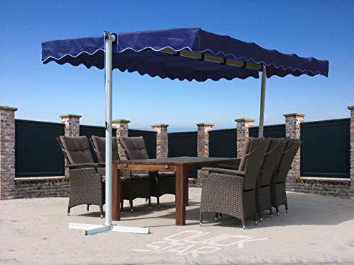 Quick-Star Stand Markise 3,75x2,25m Terrassenüberdachung Dubai Blau