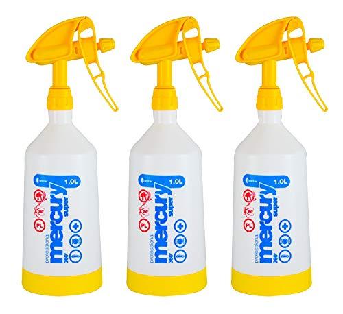 Kwazar 3X Mercury Super Pro+ 360 Grad Viton Sprühflasche Flasche gelb 1 L Liter - Liter Sprühflasche
