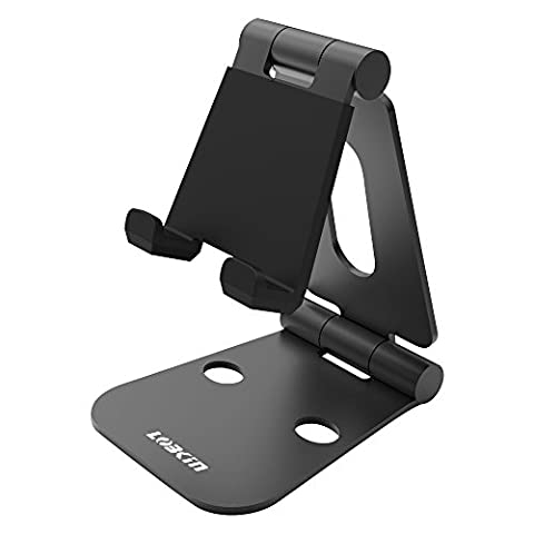 LOBKIN Dual einstellbare Panels Aluminium Telefon und Tablet Stand Stand, Faltbarer Halter, Dock für Iphone, Ipad, Samsung, Tablet und alle Smartphone Geräte -Multi Angle Universal Stand