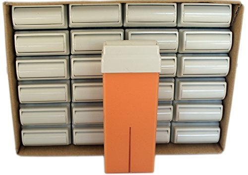 Epilwax set da 24 argan rulli cera per depilazione - larghezza 100 ml roll-on ricarica cera