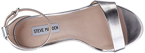 Steve Madden - Silly, sandalo Donna Silver Foil