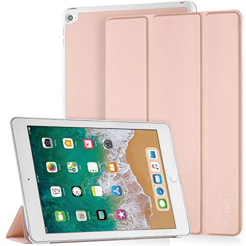 EasyAcc Hülle für iPad Air 2, Ultra Slim Cover Schutzhülle PU Lederhülle mit Standfunktion/Auto Sleep Wake Up Funktion Kompatibel für iPad Air 2 2014 Modell Number A1566/A1567 - Rose Gold