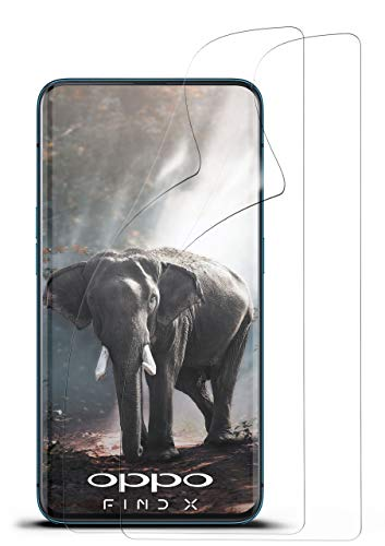 moex 2X Oppo Find X | Schutzfolie Klar Bildschirm Schutz [Crystal-Clear] Screen Protector Display Handy-Folie Dünn Bildschirmschutz-Folie für Oppo Find X Bildschirmfolie