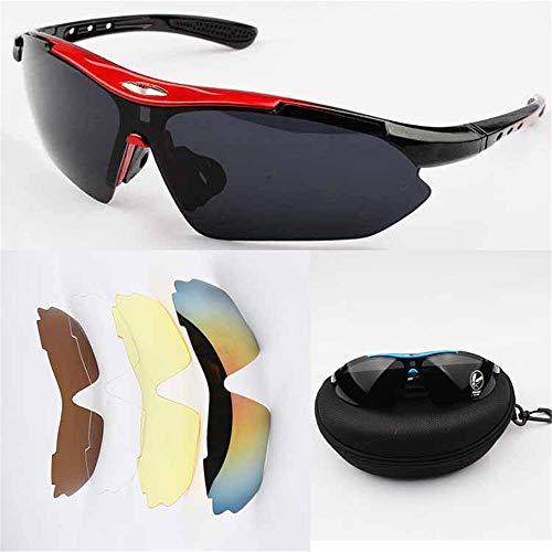 J-TUMIA Road Mountain Radfahren Brille Radfahren Brille Outdoor Sports Anzug Fahrrad Sonnenbrille 5...