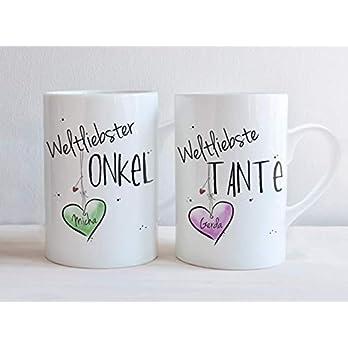 Weltliebste TANTE & ONKEL – Tassen Set ODER einzeln- individuell, personalisierbar, Geschenk, Weihnachtsgeschenk