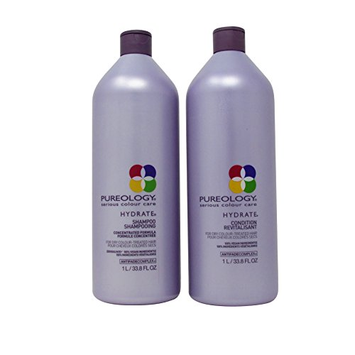 Pureology Hydrate Liter Set-Shampoo & Conditioner 33.8Oz Duo W/Antifade Complex