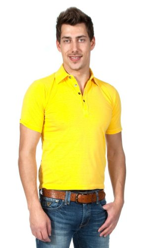 Alpha by Massimo Rebecchi Herren Polo Shirt POMEZIA 10041413-Gelb, Groesse  Eur:46