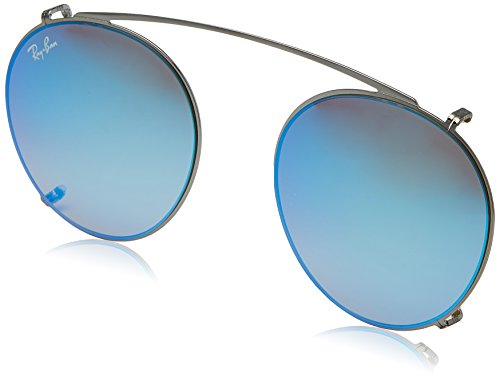 Ray-Ban - ROUND RX 2180V, Rund, Metall, Herrenbrillen, RUTHENIUM/GREY BLUE MIRROR(2502/B7), 49/21/0