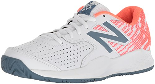 New Balance Damen 696v3 Tennisschuhe, Weiß (White/Dragonfly B3), 40 - Balance New Damen Tennisschuhe