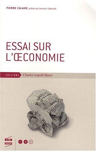 Essai sur l'oeconomie