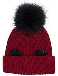 ZXUE Sombrero de Punto de Invierno Sombrero de Oreja de Moda Sombrero de  Cabeza de Pelo d1ef13f8579