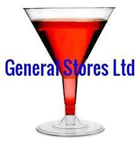 Lot de 12 grands verres à Martini/cocktail en plastique transparent Idéal pour fêtes – 200 ml