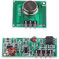 perfk 2pcs Module Radio Émetteur Récepteur sans Fil Télécommande Porte de Garage 433