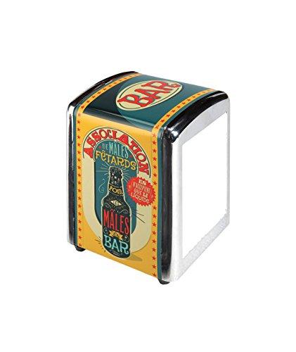 Natives 700280–Dispensador de servilletas 3Capas, Metal, Multicolor, 10x 9x 14cm