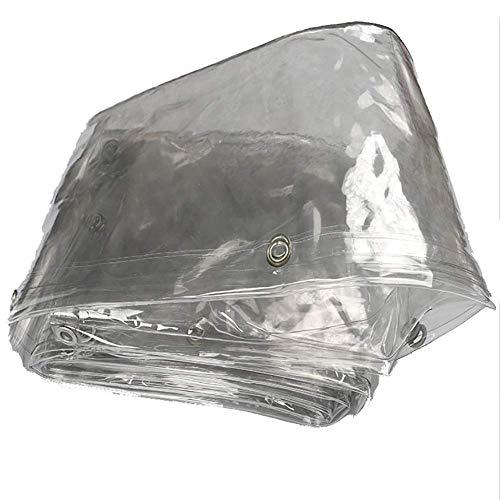 Lona resistente, tela suave de Pvc, tela plástica transparente impermeable, refuerzo del piso a prueba de polvo que cubre el aislamiento del paño del toldo al aire libre y del balcón del techo a prueb