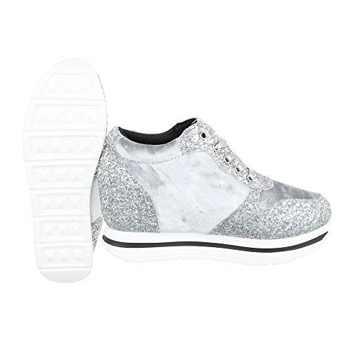 Sneakers argentate per donna Ital Design wHrdbaL