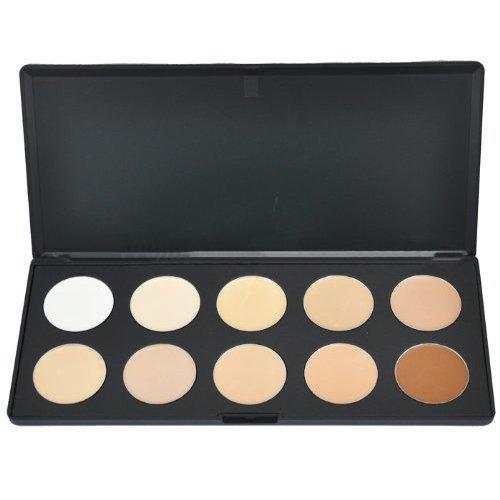 Palette de 10 couleurs de kit professionnel de camouflage de Concealer de visage de maquillage du visage de crème palette de fard à paupières cosmétique (texture crème) CODE: #610