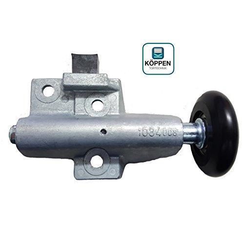 Hörmann Rollenhalter / Laufrolle (rechts) kugelgelagert für N80 Schwingtor mit Halter, Stopper und verschiebbarer Laufrolle