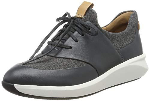 Clarks Damen Un Rio Lace Sneaker, Grau (Dark Grey), 39.5 EU