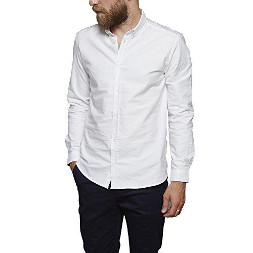 SUIT Herren Freizeithemd NOOS Oxford-BD-Q4190 Weiß (White 2000), 43 (Herstellergröße: L) (Button Oxford Weißes)