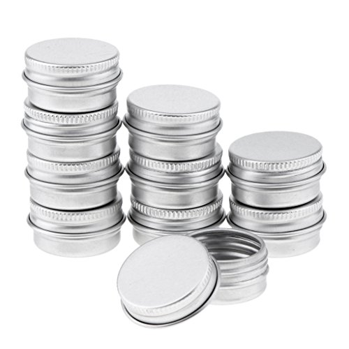 10 Stü 2 Unzen Aluminium Runde Lippenbalsam Zinn Behälter Kasten Mit Dem