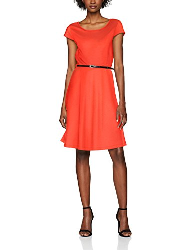 VERO MODA Damen Kleid Vmvigga Flair Capsleeve Dress Noos, Rot (Poppy Red Poppy Red), 36 (Herstellergröße: S)
