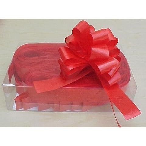 5 x 31 mm rojo para lazos de florista Craft. Diseño de flores azul/ramos/regalo decoración para árbol de Navidad/bodas