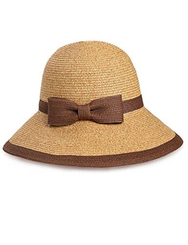 Chapeau de soleil d'été chapeau Femme été bob Big gouttières chapeau de paille chapeau de soleil Sunscreen pliable chapeau d'été chapeau de plage Pour les voyages de plage sortants ( Couleur : 2 ) 4