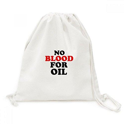 DIYthinker Kein Blut für Öl-Liebe und Frieden Welt Leinwand Rucksack Reisen Shopping Bags