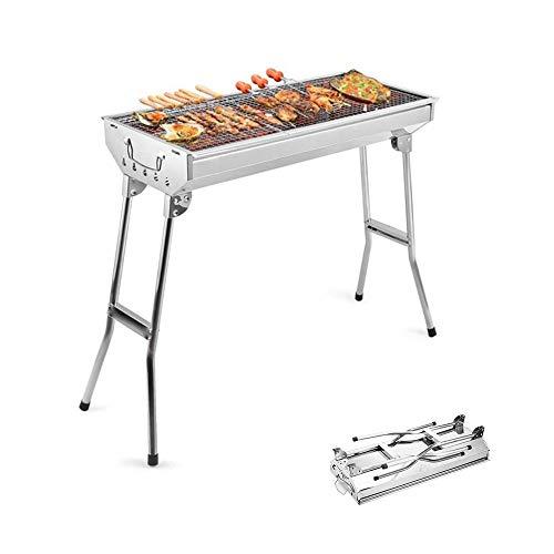 Preisvergleich Produktbild Barbecue Picknickgrill Tragbarer Holzkohlegrill Edelstahl Für BBQ Party Garten Camping