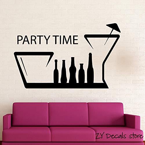 tclub Treffpunkt Positive Wandtattoo Party Time Wandaufkleber Für Geburtstagsfeier Zitate Wandkunst Wandhauptdekoration rot 42x68 cm ()