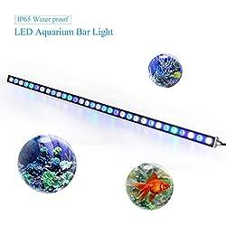 Roleadro Eclairage Aquarium Led 115cm 108W IP65 Étanche Submersible Lampe, Led Aquarium pour Néon Aquarium Poissons Corail et Plantes